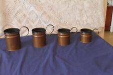 More details for 4 vintage copper measure jugs with handles