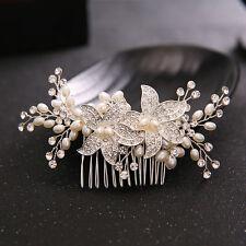 Elegant Rhinestone Flower Bridal Hair Combs Rhinestone Crystal Hair Comb Jewelry
