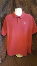Lacoste Red Polo Mens Shirt Size 9 XXXL 3XL