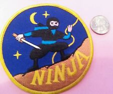 """Night Ninja fighter embroidered iron on sew on patch new old stock 4""""x 4"""""""