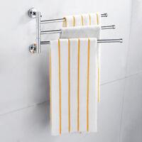 3 bras mural chromé porte-serviettes pivotant rack bain armoire de rangement L7
