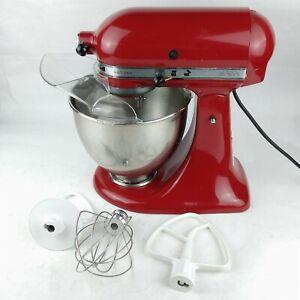 KitchenAid Artisan Stand Mixer 325w Empire Red 5qt Tilt + Attachments KSM150PSER