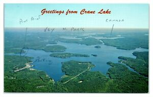 1950s/60s Greetings from Crane Lake, MN Postcard *6L31