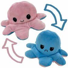 Peluche pieuvre réversible bleu / rose OctoCutty
