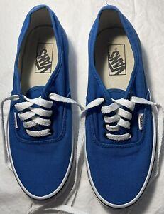 Women's VANS Blue Shoes Size 8 FREE SHIPPING