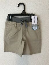 Carter's boys toddler khakis stretch SHORTS tan drawstring waist 2T NEW $22 #C8