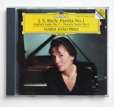 MARIA JOAO PIRES piano J.S.Bach partita n°1 suites germany DGG 449894-2 CD EX+