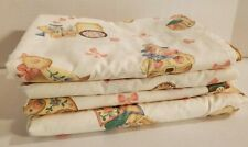Vintage Retro 80s Baby Childrens Curtains Set Of 4 Panels