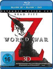 WORLD WAR Z (Brad Pitt) Blu-ray 3D + Blu-ray Disc + DVD NEU+OVP