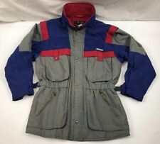 DESCENTE SKI COAT Vintage 80s 90s Retro COLOR BLOCK Jacket Blue Gray Mens XL