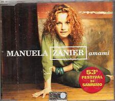 MANUELA ZANIER CD single 3 tracce AMAMI Festival di SANREMO 2003