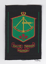 SCOUTS OF CANADA -  CANADIAN SCOUT QUEBEC DAVID THOMPSON MONTREAL Patch Extinct
