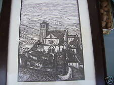 MANTERO xilografia - ASSISI S. FRANCESCO 1924