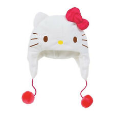Sanrio Hello Kitty Kids Size Face Hat Red Ribbon & White Face()