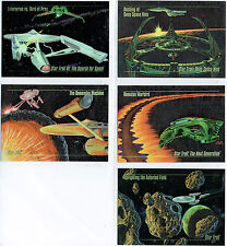 STAR TREK MASTER SERIES SET OF 5 SPECTRA FOIL CARDS S-1 - S-5