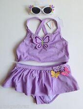 NWT Gymboree Butterfly Blossoms Ruffle Tankini Bathing Suit & Sunglasses 9 Girls