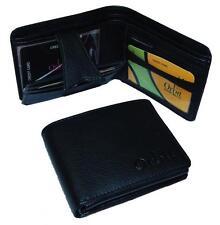 Wallet Men & Women Money Purse Leather + PU Mix Multi Slots Orbit 2357 Black