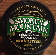 Smokey Mountain WINTERGREEN POUCH 20 Pouches / Can Tobacco & Nicotine Free Chew