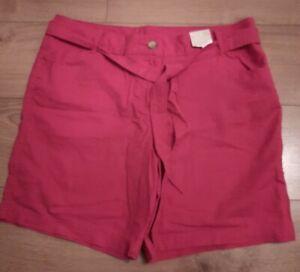 Pink Summer Linen Style Shorts *Size 16* BNWT