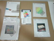 5 apple 2  iie 2e owner's manual + stickers lot + 80 column card manual lot