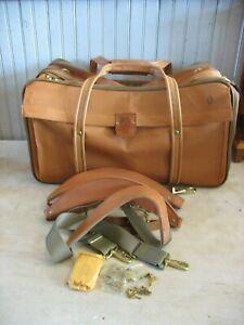 Hartmann Luggage Belting Leather Carry-On Travel Duffel Bag w Locks & 3 straps