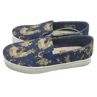 Toms X Disney Luca Slip-Ons Blue Snow White Printed Canvas 10012731 Youth Size 4