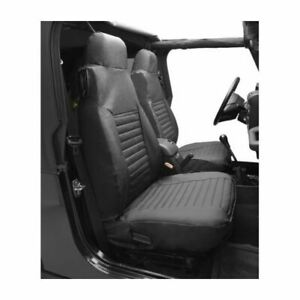 Bestop 29228-35 Seat Cover Set Front High-Back Seat Black Diamond Set of 2