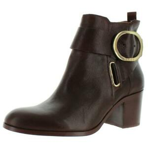 DKNY Womens Telo Zip-Up Leather Casual Ankle Boots Shoes BHFO 7654