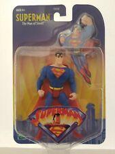"2001 Cartoon Network Superman Figure Hasbro 4 1/2"" New On Card"