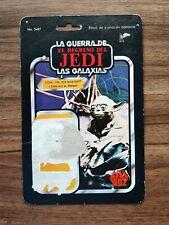 Star Wars Vintage Lili Ledy Yoda Jedi Master 30 Back Cardback Rare Variant