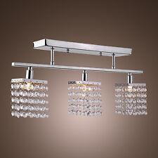 Crystal Chrome 3 Light Chandelier Pendant Ceiling Fixture Lighting Lamp Mount