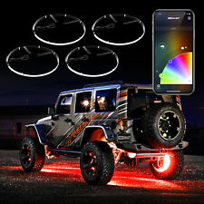 Bluetooth 4x15in Wheel Ring Accent Light LED RGB Multi Color Kit Turn Signal