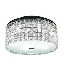 Glam Cobalt 3-light Brushed Chrome Ceiling Light by Hampton Bay