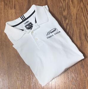 Dallas Cowboys Stadium Adidas Climalite Stretch Mens Large Polo Shirt 3 Stripes