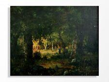 huile sur panneau de Diaz paysage Barbizonien