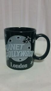 Planet Hollywood Vintage Coffee Mug London Cup Silver Stars 1991 Made in USA ph