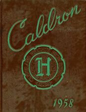 """1958 CLEVELAND HEIGHTS HIGH SCHOOL """"CALDRON"""" YEARBOOK CLEVELAND HEIGHTS, OHIO"""