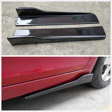 2X Car Side Skirt Rocker Splitters Winglet Wings Canard Diffuser Shovel (ABS)