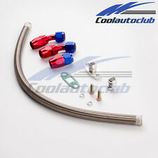 Oil Feed Return Drain Line Kit for T4 T04 GT32 GT42 GT4088R Turbos Universal