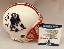N'KEAL HARRY NEW ENGLAND PATRIOTS SIGNED THROWBACK MINI HELMET AUTO+BECKETT COA!