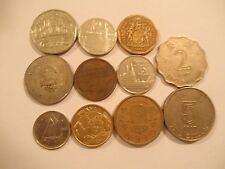 Lot of 11 World Coins Circulated South Africa Dominica China Baham FREE SHIPPING