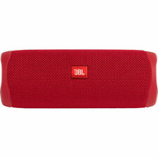 JBL Flip 5 Portable Waterproof Bluetooth Speaker (Red)