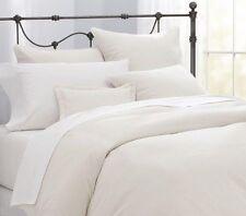 Percale White Super King Size Duvet Quilt Cover Set Plain Dyed Easy Care 200TC
