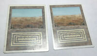 2x Scrubland x2 NM Revised Land Rare Swamp Magic The Gathering MTG Hard_8s_Magic