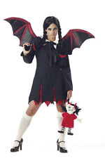 Women's Very Bat Girl Adult Wednesday Addams Costume Adult Small 6-8