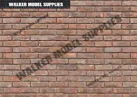 1:6 scale (3xA4) Brick wall - Peel and Apply sticker/ diorama model 4
