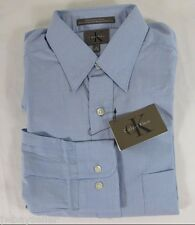 Calvin Klein CK Cotton Light Blue Button Down Shirt Pocket Sz 15 /34-35 NWT
