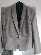 M+S Collection Womens Smart Lined Tailored Jacket Fine Dog Tooth Equestrian 16