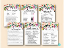 Print Yourself - Floral Garden Bridal Shower Game pack Printable BS436