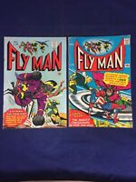 Fly Man 32,33 Radio Comics 1965 2 Issue Lot